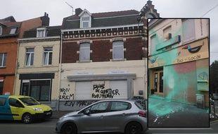 Les deux commerces vandalisés.