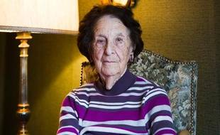 Gisèle Chaleyat, doyenne des Verts de Paris, le 27 janvier 2014.