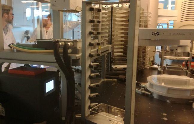 La plateforme de criblage qui sera utilisée pour une partie du travail de recherche sur le coronavirus. Ne se trouvant pas dans une enceinte sécurisée, elle ne peut pas accueillir le virus.
