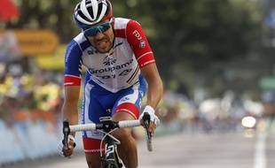 Thibaut Pinot à Saint-Etienne le 13 juillet 2019 lors de la 8e étape du Tour de France