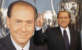 Silvio Berlusconi au moment de fêter ses 25 ans à la tête du Milan AC, en juin 2011.
