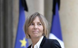 Marielle de Sarnez, la ministre des Affaires européennes, lors de son arrivée au Conseil des ministres, le 24 mai 2017 à L'Elysée.