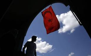 Un drapeau turc (illustration).