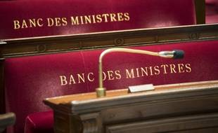 Image d'illustration des bancs de ministres à l'Assemblée nationale.