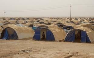 Un des camps de déplacés autour de Fallouja, en Irak, le 18 juin 2016