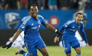 Didier Drogba et l'Impact Montreal se sont qualifiés pour les quarts de finale des payoffs de la MLS, le 29 octobre 2015.