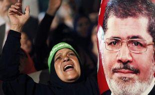 Une partisane de Mohamed Morsi, le 4 juillet, auCaire.