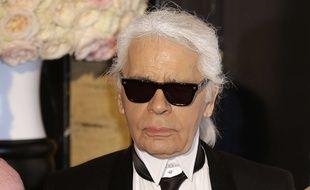 Karl Lagerfeld au Bal de la Rose à Monaco le 28 mars 2015.