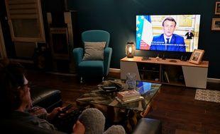 Emmanuel Macron lors de son allocution aux Français concernant le coronavirus