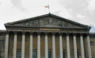 Illustration Assemblee nationale drapeau francais.