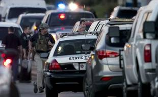 Des renforts déployés après une cinquième attaque au colis piégé à Austin au Texas, le 20 mars 2018.