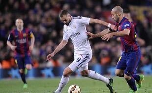 Karim Benzema lors de Barcelone-Real Madrid le 22 mars 2015.