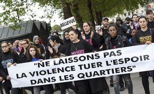 L'arrivée de la «marche de l'espoir» en centre-ville de Nantes dimanche 28 avril.