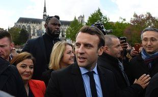 Emmanuel Macron à Amiens le 26 avril 2017.