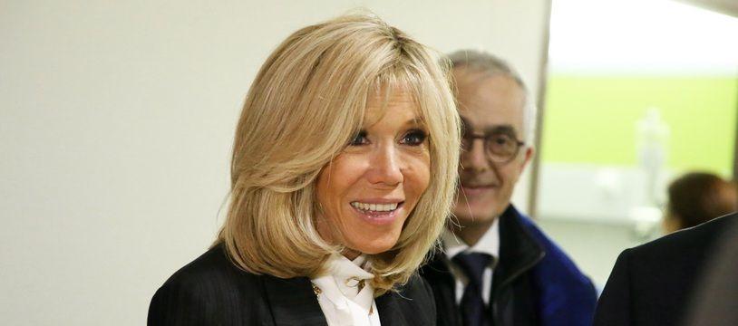 Brigitte Macron lors du lancement des Pièces Jaunes en janvier 2020