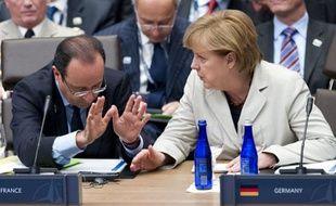 François Hollande et Angela Merkel au sommet de l'Otan à Chicago, le 21 mai 2012