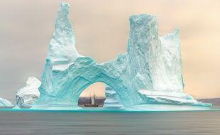 Un iceberg près du Groënland (illustration).