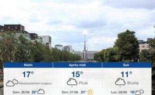 Météo Rennes: Prévisions du vendredi 25 juin 2021
