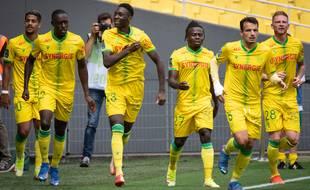 Randal Kolo Muani, au premier plan au centre, est le fer de lance du FC Nantes en ce début de saison.