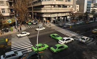 Une rue de Téhéran, en Iran, en décembre 2008.