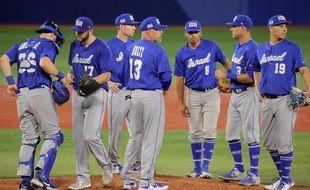 Des joueurs de l'équipe d'Israël de baseball.