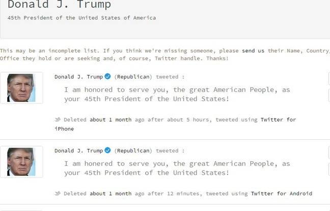 Le tweet effacé de Trump