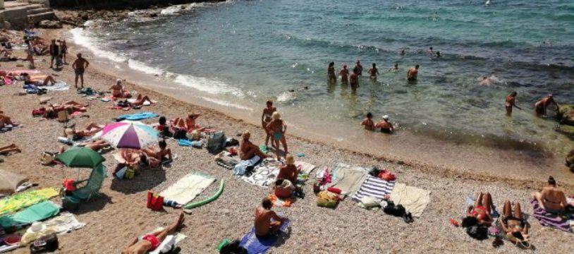 Une plage de Marseille.