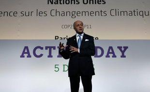 Laurent Fabius, le président de la conférence COP21, le 5 décembre 2015 au Bourget