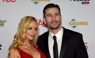 L'actrice de films pornographiques Kayden Kross et l'acteur et réalisateur de X Manuel Ferrara à Las Vegas, le 23 janvier 2016.