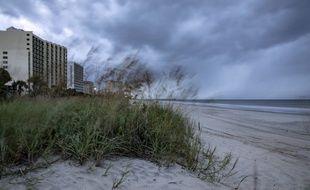 Le vent souffle sur Myrtle Beach, sur la côte est des Etats-Unis.