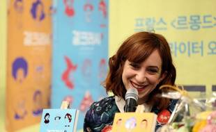 La dessinatrice française Pénélope Bagieu le 21 mars 2019 à Séoul