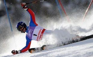 Le skieur français Jean-Baptiste Grange, lors des Mondiaux de Val d'Isère, le 15 février 2009.