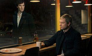 Benedict Cumberbatch (à g.) et Martin Freeman incarnent respectivement Sherlock Holmes et le Docteur Watson dans la série «Sherlock».