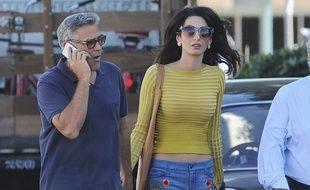 George et Amal Clooney en amoureux