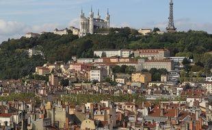 Lyon, le 3 septembre 2012. La basilque de Fourvière de Lyon. CYRIL VILLEMAIN/20 MINUTES