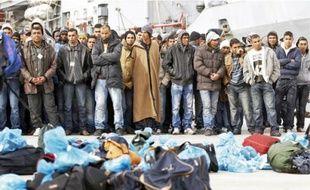 Lundi, jour de l'accident, 1500 personnes ont débarqué à Lampedusa.
