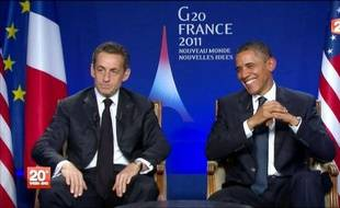 """Le président américain Barack Obama a couvert d'éloges vendredi son homologue français Nicolas Sarkozy, et exalté """"l'amitié de longue date"""" entre Washington et Paris, lors d'un entretien croisé inédit diffusé à une heure de grande écoute, les journaux télévisés du soir de TF1 et France 2."""
