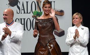 La Française Christelle Brua en 2015 au Salon du Chocolat.