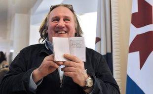 Gérard Depardieu samedi 23 février 2013 à Saransk, en Russie.