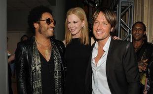 Lenny Kravitz, Nicole Kidman et Keith Urban en juin 2013 aux CMT Music Awards (Etats-Unis).