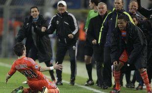 Mathieu Valbuena célèbre le but de la qualification face à Dortmund, le 6 décembre 2011