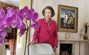 Lilliane Bettencourt chez elle à Neuilly, le 11 juin 2011.