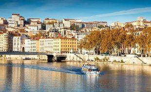Le 7 novembre. Vue de Lyon.  KONRAD K./SIPA
