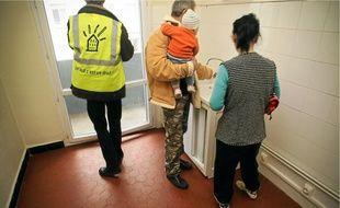 Cinq familles, ayant déposé un dossier Dalo, ont été relogées dans cet immeuble réquisitionné par les militants.