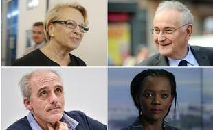 Michèle Alliot-Marie, Jacques Cheminade, Philippe Poutou et Rama Yade.