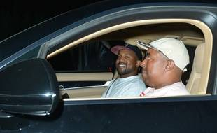 Le chanteur Kanye West, visiblement ravi