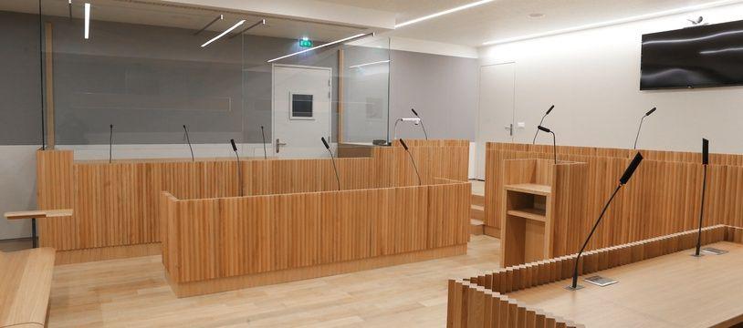 Illustration. Strasbourg le 20 janvier 2017. Le nouveau Palais de justice.