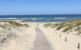 Accès à la plage à Soulac sur le littoral Atlantique
