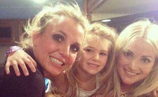 La chanteuse Britney Spears avec sa nièce Maddie et sa sœur Jamie Lynn