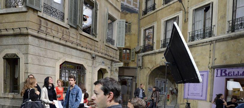 Le tournage de la série Plus Belle la Vie, ici en 2012